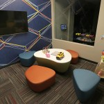 """The """"kid's corner"""" where children can play while their parents work out in the fitness center."""