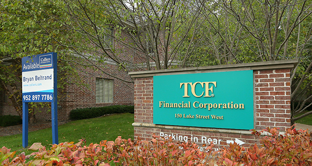TCF Bank moved about 130 employees out of its former building at 150 Lake St. W. in Wayzata in 2015. (Staff photo: Bill Klotz)