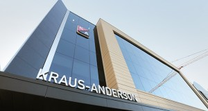 Kraus-Anderson's new headquarters was recently completed at 501 S. Eighth St. in downtown Minneapolis. The building is on the same site as the construction company's original headquarters on that block. (Staff photo: Bill Klotz)