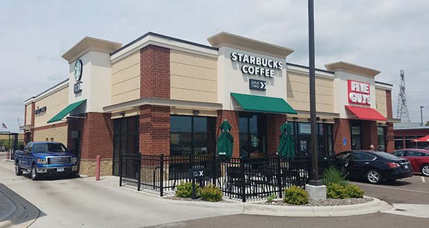 This multi-tenant retail building, completed in 2016 at 8090 Old Carriage Court N., is one of the newest additions to Southbridge Crossing in Shakopee. (Submitted photo: CoStar)