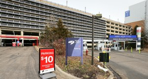 """An analysis found the RiverCentre parking ramp in downtown St. Paul to be """"structurally deficient"""" because of its """"outdated design,"""" age and condition. (Staff photo: Bill Klotz)"""