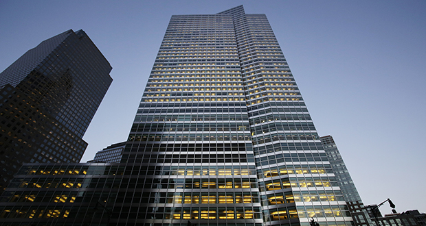 This Oct. 15, 2015, photo shows the Goldman Sachs headquarters in New York (AP file photo)