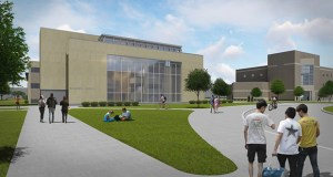 Gustavus Adolphus hopes to begin construction in early February on a $70 million project that will expand and renovation this Nobel Hall of Science on the campus at 800 College Ave. in St. Peter. (Submitted rendering: Hastings+Chivetta)