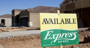 Shares of D.R. Horton Inc., the biggest U.S. homebuilder, gained 87 percent last year thanks to its fast-selling Express entry-level brand. This photo shows an Express Homes development in Florence, Arizona in November 2017. (Bloomberg file photo)