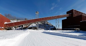This Feb. 10, 2016, file photo shows a former iron ore processing plant near Hoyt Lakes, Minnesota, that would become part of a proposed PolyMet copper-nickel mine. (AP file photo)
