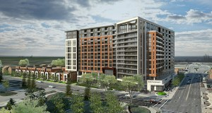 Minneapolis-based Alatus LLC has assembled the 2.77-acre site and the financing needed to start work on its $125 million mixed-use development on the 1400 block of Second Street Southwest in Rochester, Minnesota. (Submitted image: ESG Architects)