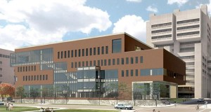 This $108.6 million University of Minnesota Health Sciences Education Center was a big bonding priority for Gov. Mark Dayton in the 2016 and 2017 legislative sessions. The U of M will break ground this week at the northwest corner of Delaware Street and Harvard Street in Minneapolis. (Submitted image: Perkins + Will)