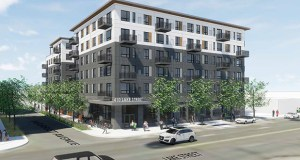 The first phase of Lupe Development Partners' Lake Street Apartments at 410 Lake St. in Minneapolis is slated to start construction in summer 2019. (Submitted illustration: ESG)