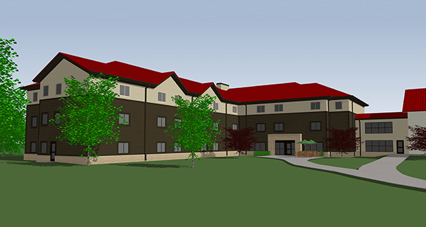 The $6.9 million, 112-bed Brother William Hall at St. Mary's University in Winona, Minnesota, is designed to provide housing to first-year students, starting in fall 2019. (Submitted image: St. Mary's University)