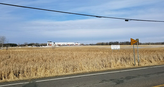 The 157-acre Schwinghammer family farm in St. Cloud, Minnesota, will become a mixed-use development planned around a charter school at the center of the site. The land is in the northwest quadrant of 33rd Street South and County Road 136. (Submitted photo)
