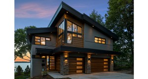 """Minneapolis-based Sustainable 9 Design + Build used its trademark """"Minnesota Modern"""" style in this home at 2000 Shadywood Road in Orono. The Lake Minnetonka home features soaring angles, asymmetrical shapes and a mix of wood and stone to create a contemporary design that fits natural settings around the Twin Cities. (Submitted photo: Sustainable 9 Design + Build)"""