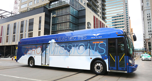 Metro Transit has studied electric buses, including Winnipeg-based New Flyer buses (pictured). The agency is aiming to add some electric buses to its fleet in the coming years. (File photo: Bill Klotz)