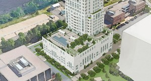 Eleven, a 41-story condo tower planned for 1101 W. River Parkway in Minneapolis, may need to have more accessory suites on its north side facing the parkway to meet a city requirement for screening parking. (Submitted illustration: Ryan Cos. US Inc.)
