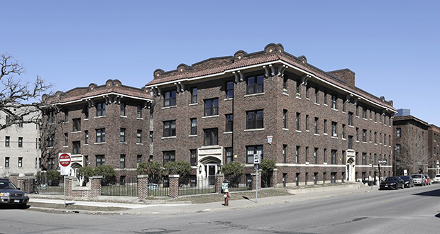 An entity related to Minneapolis-based Olympus Properties has paid $6.15 million for the Dartmouth and Castleton Apartments at 214-220 E. 19th St. in the Stevens Square neighborhood of Minneapolis. (Submitted photo: CoStar)