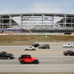 Allianz Field sits at the busy intersection of Snelling Avenue and Interstate 94, just south of University Avenue. (Staff photo: Bill Klotz)