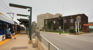 The University of Minnesota is choosing to sell an office building at 2642 University Ave. W. in St. Paul rather than rehab it because doing so would be too costly. The building is in front of the Westgate Station on the Green Line light rail route. (Staff photo: Bill Klotz)