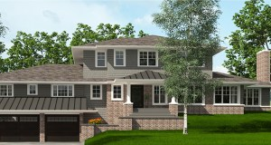 This rendering shows how the Golden Valley-based House Dressing Company took a humble rambler at 6637 Parkwood Road in Edina and added a new upper level and design as well as interior improvements. (Submitted image: House Dressing Company)