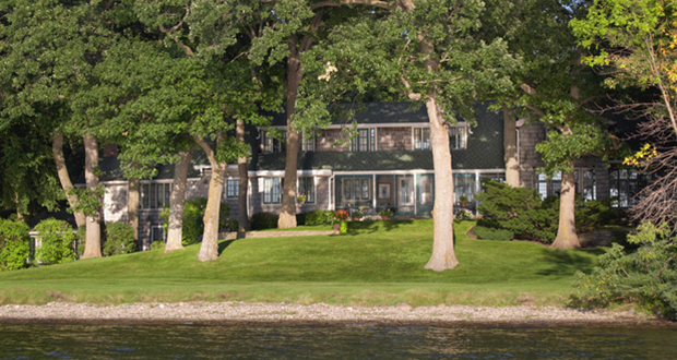 The Meadow Lake estate on Lake Minnetonka offers a seven-bedroom, nine-bath 6,001-square-foot home on 6.9 acres in Wayzata. The sale of the 92-year-old estate has achieved the highest residential price to date in 2018 in Minnesota. (Submitted image)