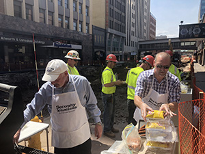 Security Jewelers threw a cook-out for the Northland Constructors crew in appreciation of their hard work on the Superior Street project. (Submitted image: Northland Constructors)