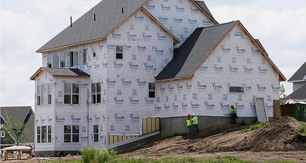 New single-family homes are taking shape within this Creekside Hills development in Plymouth. In June, metro area cities issued permits for 558 new single-family houses, up 14 percent from June 2017. (Staff photo: Bill Klotz)