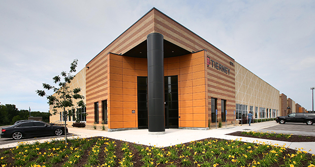 The new Tierney Brothers office is the anchor tenant at the Midway Stadium Business Center. (Staff photos: Bill Klotz)