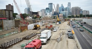 Construction on the 35W@94: Downtown to Crosstown mega-project started in September 2017 is scheduled to be completed in fall of 2021. (Photo: Craig Lassig/Special to Finance & Commerce)