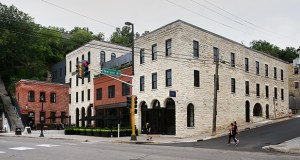 Minneapolis-based ESG Architecture & Design created an addition joining several existing structures to accommodate the new Lora Hotel and three restaurants on this historic block in Stillwater. (Staff photo: Bill Klotz)
