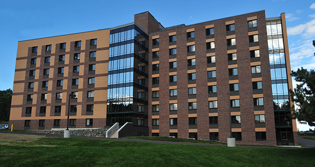 This student housing facility, known as Ianni Hall, opened in 2011 on the University of Minnesota Duluth campus, 1049 University Drive in Duluth. UMD is seeking predesign services to build another residence hall and dining facility in the campus housing district. (Submitted photo: UMD)