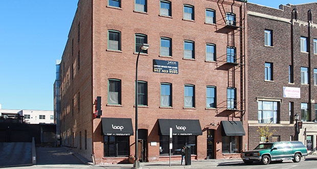 Paster Properties plans to make upgrades to the Jacobson Building at 606 Washington Ave. N. in Minneapolis as it seeks tenants to fill space in the mixed-use office and retail structure's top three floors. (Submitted photo: CoStar)
