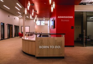 """The building features a new two-story """"learning commons"""" and """"welcome center"""" with student gathering spaces, technology for enhanced research, a high-tech library and more. (Submitted photo: Dunwoody College of Technology)"""