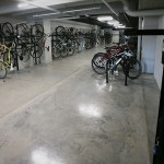 The Bike Lounge comes with a bike repair station.