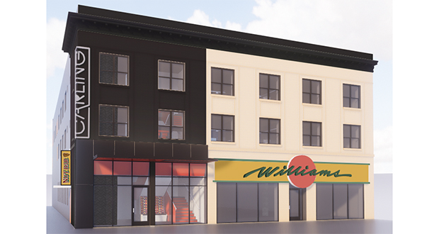 "On Tuesday, Ackerberg released a rendering of what Uptown's Williams Building will look like after a renovation that includes ""major updates to the lobby and façade,"" according to a press release from the developer. (Submitted illustration: The Ackerberg Group)"