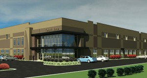 Eden Trace Corp. aims to build three office/warehouse buildings at 8610 Galpin Blvd. in Eden Prairie. (Submitted image: Edward Farr Architects)