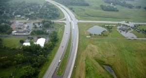 This reduced conflict intersection, built in 2012, dramatically improved safety at Highway 212 and Highway 284/Highway 53 in Cologne, according to the Minnesota Department of Transportation. (Submitted photo: MnDOT/Bolton and Menk Inc.)