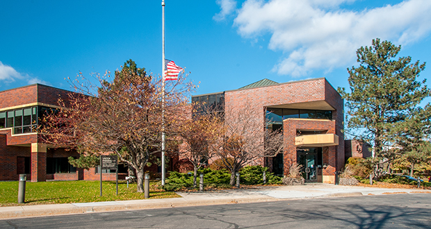 An entity related to Minneapolis-based Hoyt Properties has paid $9.95 million for the three-building, 13.72-acre Merrill Corp. campus in St. Paul's Energy Park. The buildings include 1 Merrill Circle, as well as 1419 and 1501 Energy Park Drive. Merrill will continue to lease back about half of the space. (Submitted photo: CoStar)