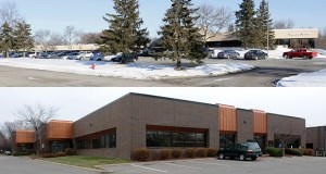 Local investors led by Ashish Aggarwal have paid a total of $10.15 million for Whitewater Plaza a 61,138-square-foot Class C flex showroom at 12400 Whitewater Drive in Minnetonka (above) and the Olympia Business Center, a total of 54,355 square feet in two buildings at 1325 and 1401 American Blvd. in Bloomington. (Submitted photo: CoStar)