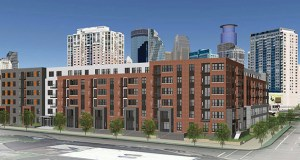 Utility work is expected to begin soon for this planned 240-unit market-rate apartment complex at 1400 Park Ave. S. in Minneapolis. (Submitted rendering: BKV Group)