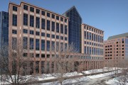 Accesso completed more than 100,000 square feet of leases in the fourth quarter of 2019 for the nine-story office towers at 1600 and 1550 Utica Ave. S. in St. Louis Park. (Submitted photo: CoStar)
