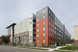 The Radius apartments at 701 15th Ave. SE in Minneapolis sold for $76.3 million in July. (Submitted photo: CoStar)