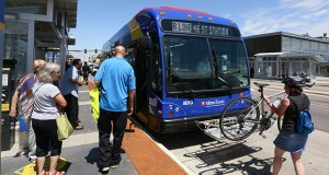 Stations along the A Line bus rapid transit corridor between Roseville and Minneapolis are among those examined in the Metropolitan Council's study of transit-related development. (File photo: Bill Klotz)