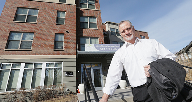 "Alan Arthur, president and CEO of Minneapolis-based affordable housing developer Aeon, said rent subsidy payments from the federal government have been on time so far and ""we expect them to be on time at least through February. Beyond that all bets are off,"" he said. (File photo: Bill Klotz)"