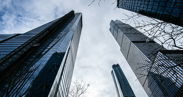 Buildings stand in the Hudson Yards development in New York on Jan. 16. While the largest U.S. property developers can benefit from Donald Trump's tax law, smaller investors may not be able to take advantage of a tax deduction. (Bloomberg photo: Jeenah Moon)
