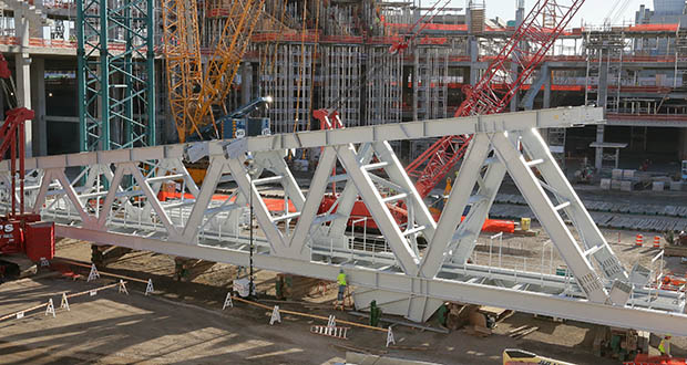 Minnesota projects delivered under project labor agreements include U.S. Bank Stadium, shown under construction in 2014. (File photo: Bill Klotz)