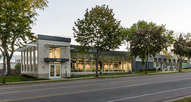 The Ackerberg Group redeveloped a vacant industrial building at 1001 N. Plymouth Ave. in Minneapolis into this Hennepin County Human Services North Hub. Ackerberg has sold the property to a Chicago buyer in a $7 million cash deal. (Submitted photo)