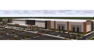 Scannell Properties has put plans on hold for a 2.56 million-square-foot fulfillment center proposed for 10600 Xylon Ave. N. in Brooklyn Park, but expects to submit a new application for the project at an unspecified date. (Submitted rendering: Scannell Properties)