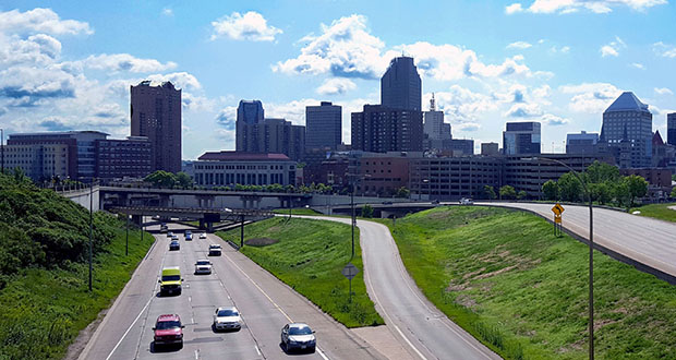 Shakopee-based Valley Paving on Friday submitted the low bid of $7.76 million to repave Interstate 94 between Highway 280 and Western Avenue in St. Paul. The project is within the Rethinking I-94 study area, which includes this stretch of I-94 near downtown St. Paul. (Submitted photo: MnDOT)