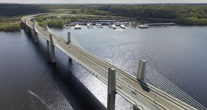 Cost overruns could add tens of millions of dollars to the final tally for the estimated $647 million St. Croix Crossing. The project features a new bridge over the St. Croix River between Oak Park Heights and St. Joseph, Wisconsin. (File photo: Bill Klotz)