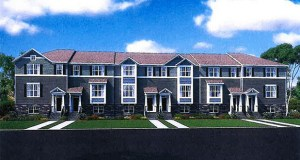 Lennar's Newport style townhomes will be one of two types the Florida-based company plans to build on acreage surrounding two sides of Fridley's City Hall complex at 7071 University Ave. NE. (Submitted illustration: Lennar)