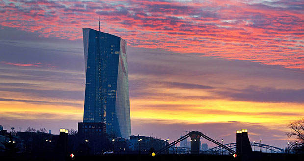This photo shows the European Central Bank in Frankfurt, Germany. (AP file photo)