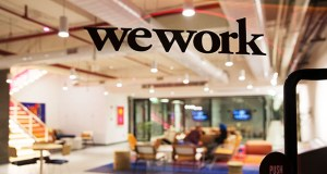 WeWork has grown so large that its global shared-workspace footprint is roughly equal to all the office space in downtown Philadelphia. (Bloomberg file photo)